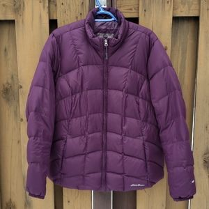 Eddie Bauer women's down jacket, purple, XXL